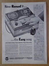 RCA 1953 Push-Botton Tape Recorder ad advertisement