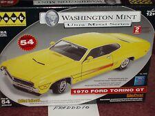 HAWK/WASHINGTON MINT 1970 FORD TORINO GT YELLOW MODEL KIT 1/24 SKILL 2