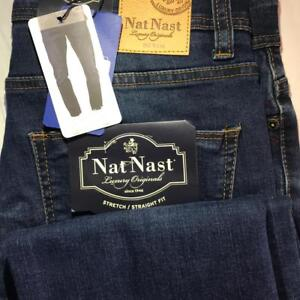 Nat Nast Men's Luxury Originals Stretch Straight Fit Jeans