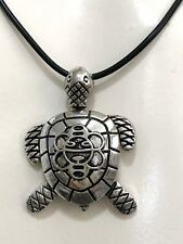TURTLE w MOVEMENT PUERTO RICO SOL TAINO S/S PENDANT Unisex NECKLACE SOUVENIRS
