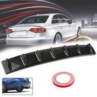 Shark Fin Universal Rear Bumper Lip Diffuser 7 Fin Carbon Fiber Color ABS