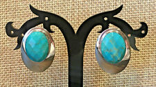 Turquoise Oval Stone Earrings Nwt Clip on New listing