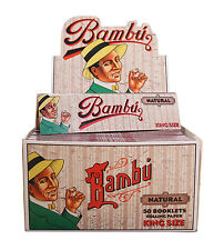 Bambu Natural King Size (50 Pack) Cigarette Rolling Papers New & Factory Sealed