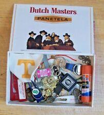 DUTCH MASTER PANETELA BOX ~ FULL OF STUFF ~ KEY CHAINS, DIVOTS, BUD LITE CHAIN +