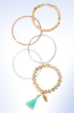 PANACEA Set of 5 Assorted Beaded Stretch Bracelets