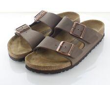 21-11 $100 Women's Sz 7 N Birkenstock Arizona Birkibuc Hard Footbed Sandal