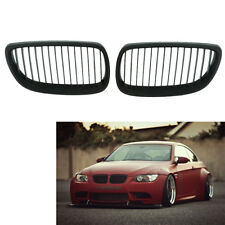For 06-09 BMW E92 E93 M3 2-Dr Coupe Matte Black Front Bumper Kidney Grille Grill