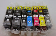 7PK PGI220BK CLI221 Ink Cartridge for Canon PIXMA MP990 MP980 MX870 MX860 iP4680