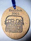 Longaberger DRESDEN 2001 Basket of Hearts Dresden Pottery Tie On