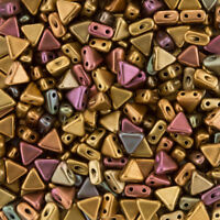 Kheops Par Puca Triangle 2 Hole Seed Beads Bronze Gold Matt 6mm 9g Tube K94//7