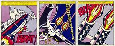Roy Lichtenstein - As I Opened Fire (Triptych) Set of 3 Prints Stedelijk Museum