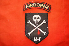 Vietnam War 2 Shoulder Patches: AIRBORNE + ARVN 3rd Mobile Strike Force Command