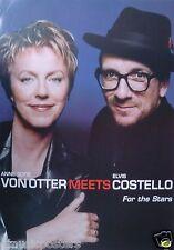 """Elvis Costello & Anne Sofie Von Otter """"For The Stars v.2"""" Australia Promo Poster"""