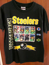 PITTSBURGH STEELERS youth med T shirt Rod Woodson 1993 Upper Deck tee Greg Lloyd