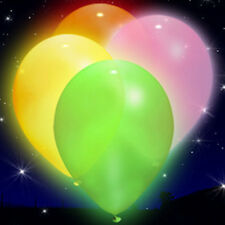 LED illoom Balloons - 5 Pink, Orange, Green, White & Yellow Light Up Balloons
