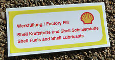 Porsche 911 Shell Fuel & Oil air box Sticker Decal mid 1973 onwards