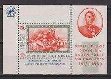 Indonesia Indonesie nr 594 blok B8 MNH PF Schilderijen Raden Saleh 1967