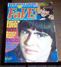 Fave Magazine 1968 The Monkees Davy Jones Bee Gees Leonard Nimoy Raiders Vintage