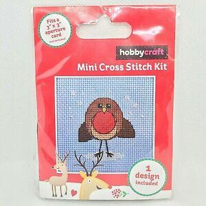 Hobbycraft Mini Christmas Cross Stitch Kit Robin Support Creative Mental Health