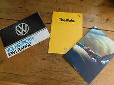 New listing Volkswagen Range Brochures x 3 (1981 to 1999) all in vgc