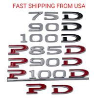 P90D P100D  60 75 85 90 100D PD Emblem Badge Decal OEM Tesla Model S 3 X Y