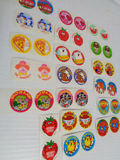 TREND 1989 Vintage  scratch 'n sniff stickers lot of 2 sets 1980s Stinky glossy