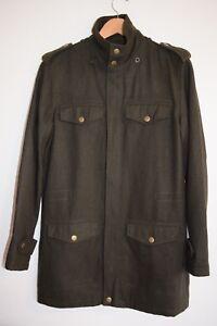 Revival, dark green khaki, coat/ jacket...wool blend...size S.... excellent con