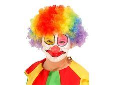 New Rainbow Clown Pop Wig Multi Coloured Circus Afro Bobo Hair