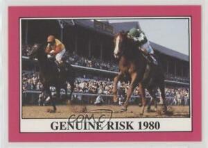 1991 Horse Star Kentucky Derby Genuine Risk #106