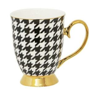 NEW Cristina Re Mug Houndstooth New Bone China Partyware Gifts School