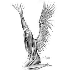 Fallen Angel Wings Raver Arm Leg Body Art Waterproof Temporary Tattoo Sticker