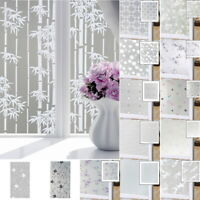 2PCS Frosted Privacy Frost Glass Home Bathroom Bedroom Sticker Film Window Decor