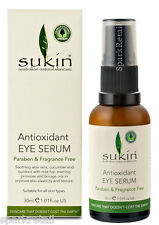 Sukin Antioxidant EYE SERUM With Aloe Vera/Cucumber/Burdock/Rosehip/Borage 30ml