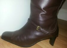 **Ladies Brown KIT Knee Length Boots**Size UK 5**