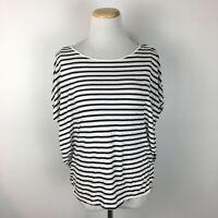 Gap Women's Navy Blue & White Batwing Scoopneck Striped Shirt Size Small