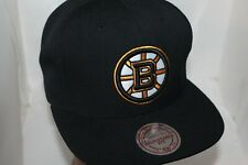 Boston Bruins Mitchell & Ness Nhl Vintage Wool Solid Snapback,Hat,Cap New