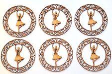 Wooden MDF Blank shape - Highland dancer female in Celtic circle - set of 6 pcs
