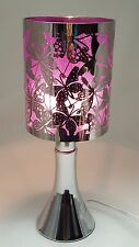 Fragrance ** Stainless Steel Table Touch Lamp NButterfly (Purple) Silver color