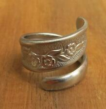 Spoon Ring Handmade, Stainless Steel Wrap Around, Size 9 10 11, #685
