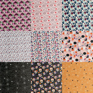 Autumn Halloween Floral Christmas Leatherette Fabric - Faux Leather Crafts Bows
