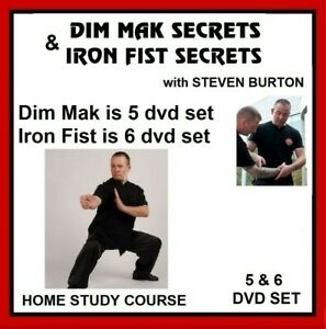 DIM MAK + IRON FIST SECRETS  BOTH DVD SETS instructional kung fu steven burton