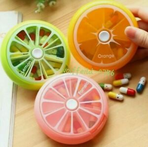Weekly Daily Pill Box Organiser Medicine Tablet Storage Dispenser 7 Day 1 Times