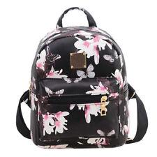 Women Floral Backpack Travel PU Leather Handbag Rucksack Shoulder School Bag New