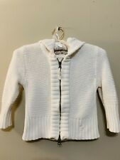 Abercrombie & Fitch Cropped White Sweater Zip Up Size Small