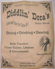 Diddlin' Dora's Parlor House Poster, brothel, old west, western, wanted