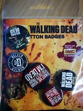 The Walking Dead Phrases Badge Pack Button Official Daryl Dixon Rick Grimes