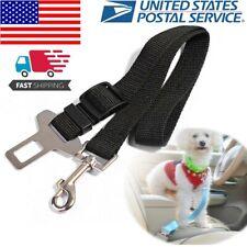 Pet Dog Adjustable Harnesses Seat Belt Lead Restraint Strap Car Safety Clip Lead