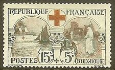 """FRANCE STAMP TIMBRE N°156 """" CROIX ROUGE 15c+5c L'INFIRMIERE 1918 """" NEUF xx TB"""