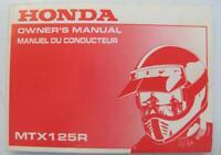 HONDA MTX125R 1988 #38KE1600 Motorcycle Owners Handbook Multilingual