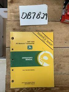 John Deere AMT 600 All Material Transporter Operators Manual OMW38899 NOS